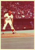 Johnny Bench at the plate.