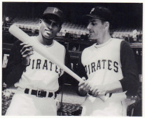 Clemente and teammate Dick Groat, ca. 1955-61
