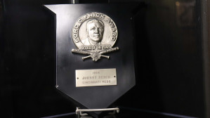 Johnny Bench's 1968 NL Rookie of the Year Award.